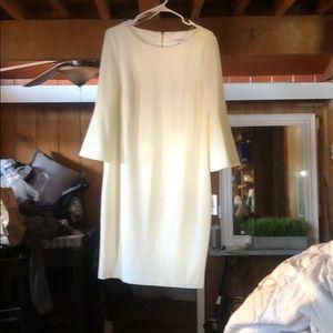 calvin klein white dress